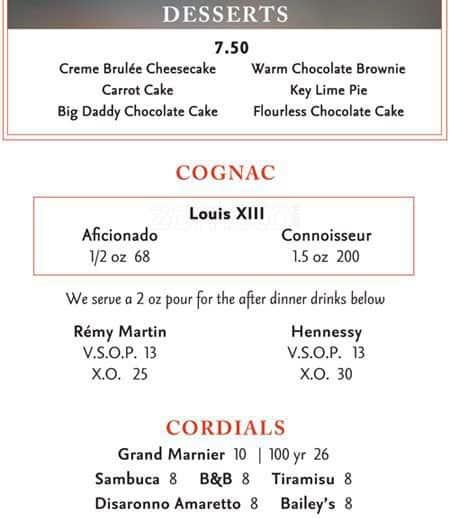 Firebirds Restaurant Menu Prices