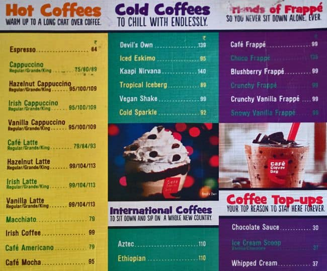 Cafe Connect Menu Amritsar