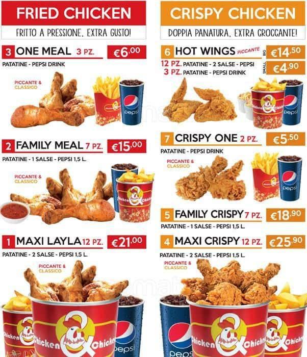 Chicken Chicken Chicken Chicken&chicken Zara Menu
