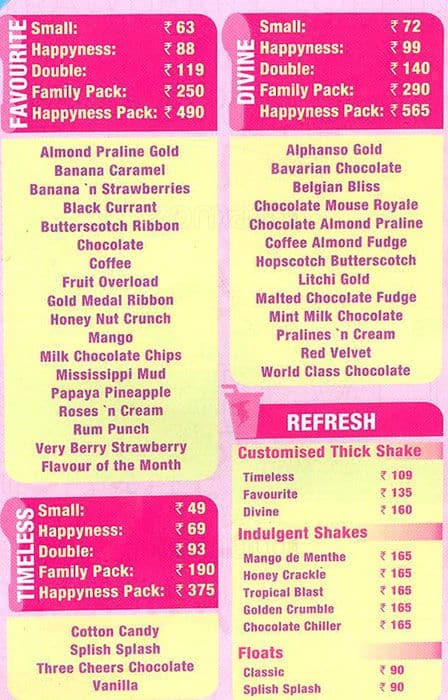 Entire prices and full menu in Baskin-Robbins's stores. Find various cups and cones, sundaes, parfaits and cakes. Try their classic ice cream treat or whipped cream/5().