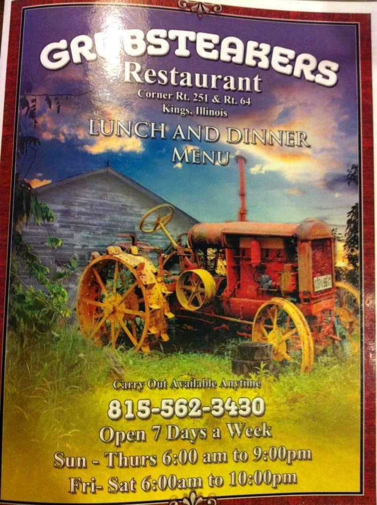 Rochelle (IL) United States  City pictures : Grubsteakers Restaurant, Rochelle Menu