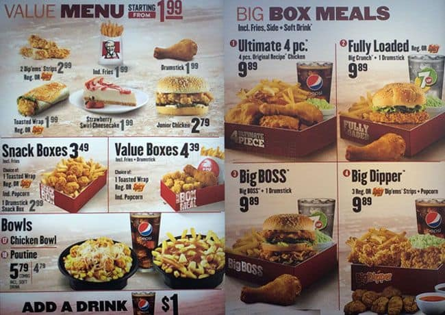 KFC Menu, Menu for KFC, Runnymede, Toronto - Urbanspoon/Zomato