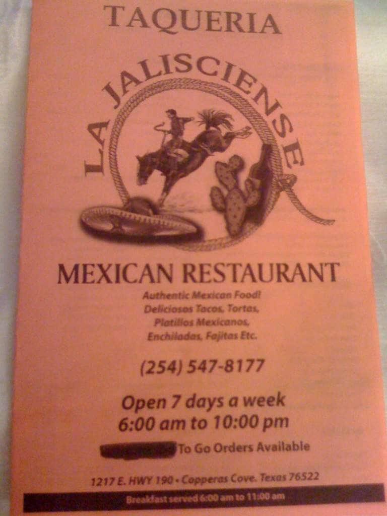 Copperas Cove (TX) United States  city pictures gallery : La Jalisciense Mexican Restaurant Menu Zomato United States