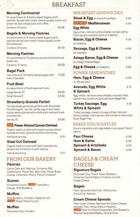panera bread printable menu panera menu prices 23892