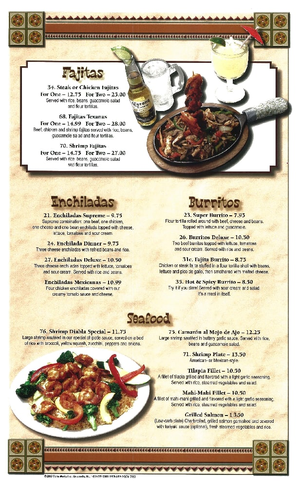 Dothan (AL) United States  City pictures : Old Mexico Mexican Restaurant Menu Zomato United States